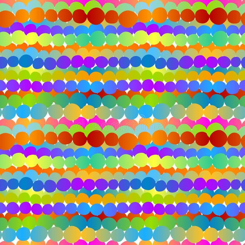 Den kulöra cirkeln ror sömlös bakgrund royaltyfri illustrationer