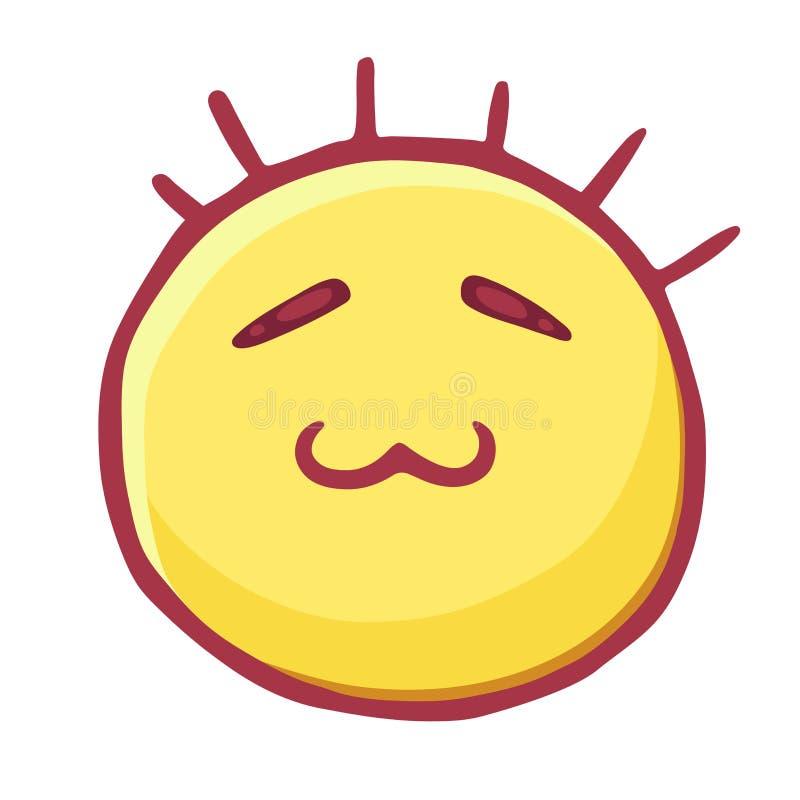 Den kulöra emoticonssymbolen, smileyen med stängda ögon och katt s skvallrar, den listiga emojien stock illustrationer