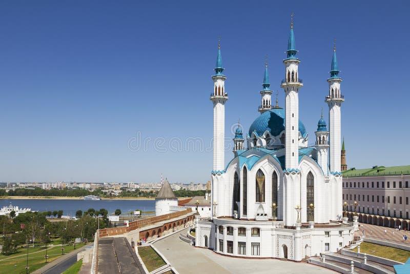 Den Kul Sharif moskén i den Kazan Kreml Ryssland fotografering för bildbyråer