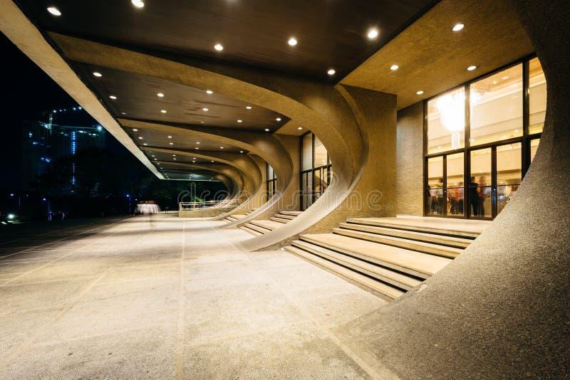 Den kulturella mitten av Filippinerna på natten, i Pasay, tunnelbana royaltyfri bild