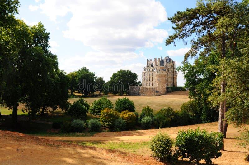 Den kungliga chateauen de Brissac, Loire arkivbilder