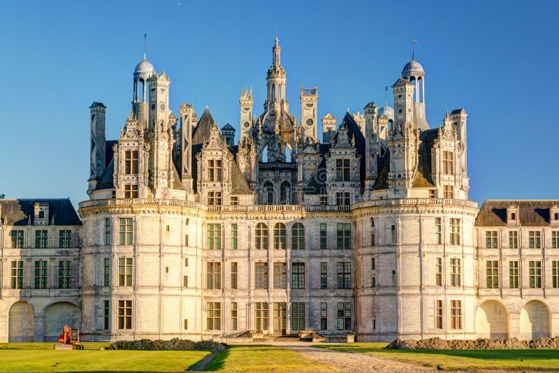 Den kungliga Chateauen de Chambord, Frankrike arkivfoton