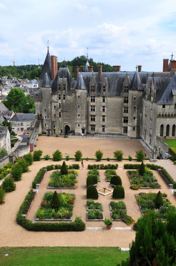 Den kungliga chateauen de Langeais, Loire royaltyfri fotografi