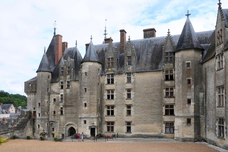 Den kungliga chateauen de Langeais, Loire arkivbilder