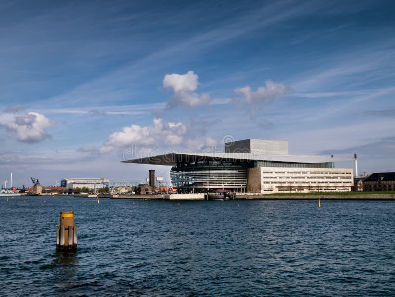Den kungliga danska operan i Köpenhamnen, Danmark royaltyfria bilder