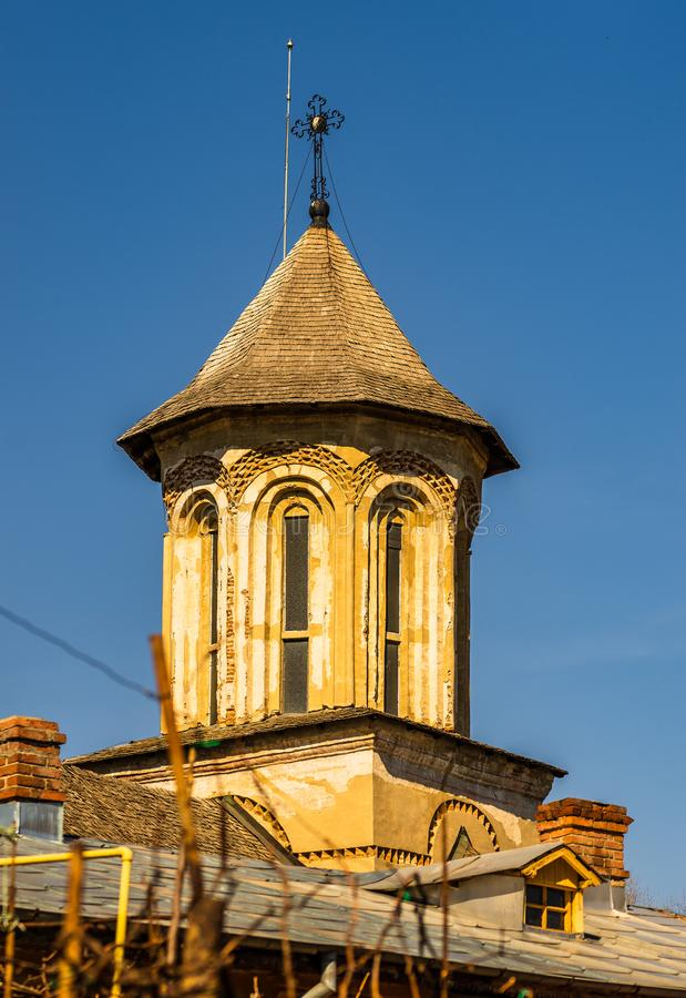 Den kungliga domstolen av Targoviste, Rumänien arkivbild