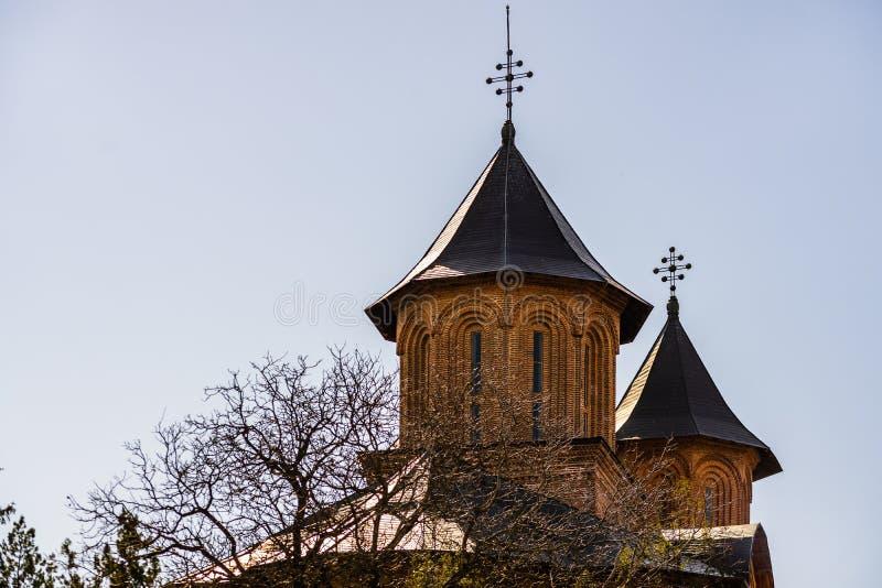 Den kungliga domstolen av Targoviste, Rumänien arkivbilder