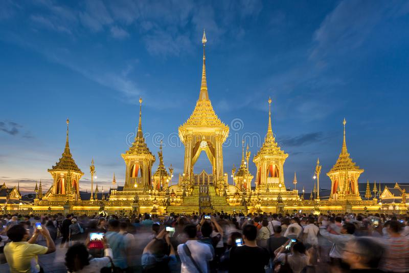 Den kungliga krematoriumkopian för konungen Bhumibol Adulyadej Pra M royaltyfria foton