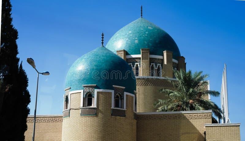 Den kungliga kyrkogården och mausoleet i Adamiyah, Baghdad, Irak royaltyfria bilder