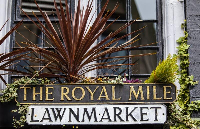 Den kungliga mil i Edinburg royaltyfria bilder