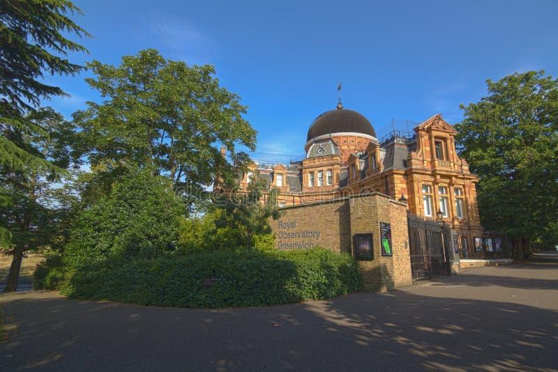 Den kungliga observatoriet - Greenwich, UK royaltyfria bilder