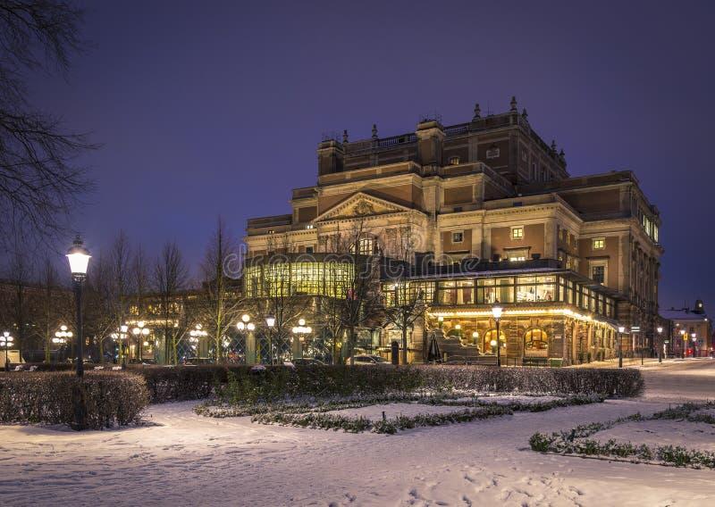 Den kungliga operahuset, Stockholm sweden arkivbild