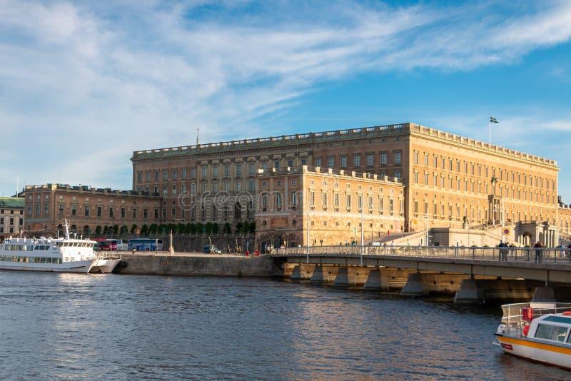 Den kungliga slotten av Stockholm royaltyfri bild