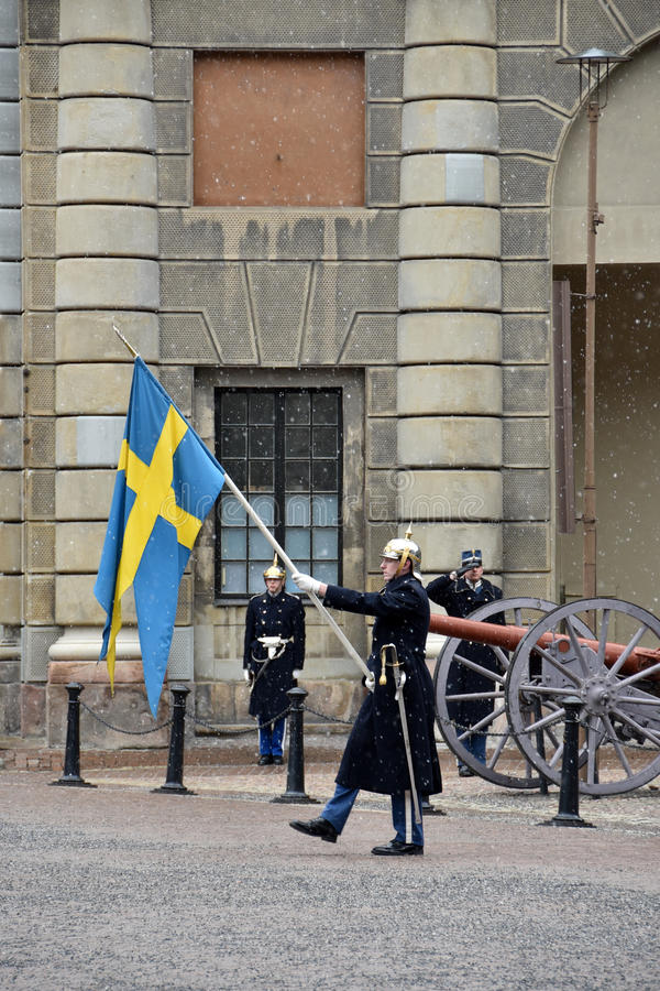 Den kungliga vakten av Sverige fotografering för bildbyråer