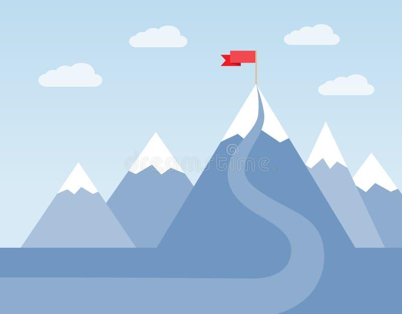 Den långa vägen till framgång stock illustrationer