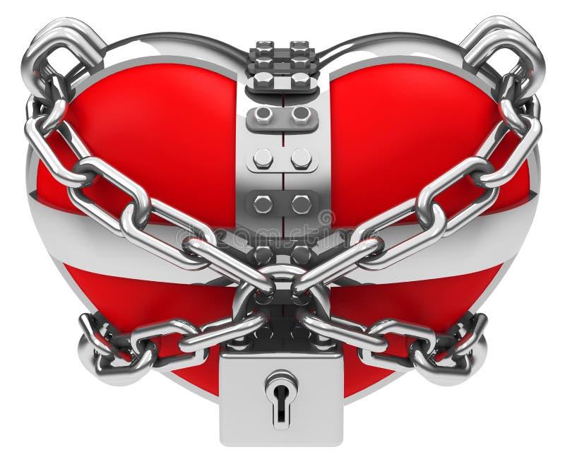 Den låsta hjärtan vektor illustrationer