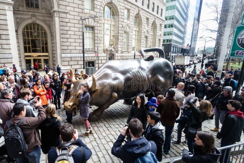 Wall Streettjur royaltyfri foto