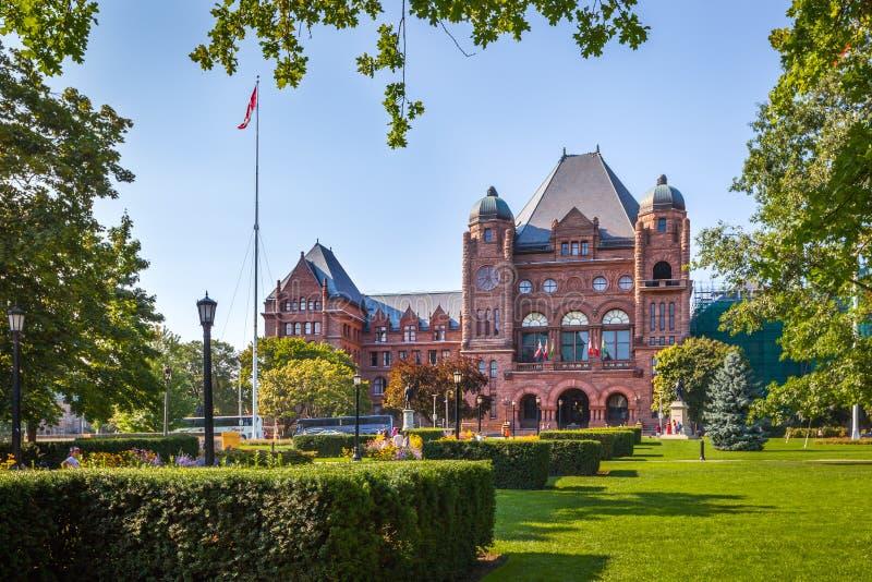 Den lagstiftnings- byggnaden, Toronto, Kanada royaltyfri fotografi