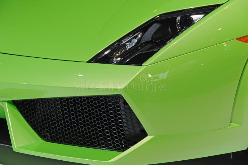 Den Lamborghini bilbillyktan och luftar intag royaltyfria foton