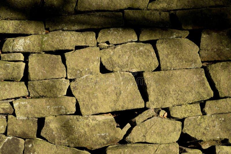 Den lantliga engelska väggen Disley, Stockport, Derbyshire England Lyme parkerar arkivfoton