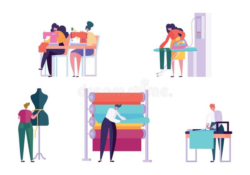 Den ledar- sömnaden beklär den fastställda kvinnan för teckenfolk royaltyfri illustrationer