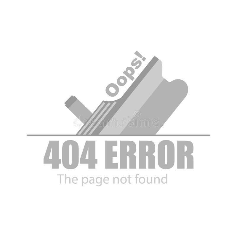 Den ledsna kryssningeyeliner och meddelandet, den inte-fann sidan fel 404 royaltyfri illustrationer