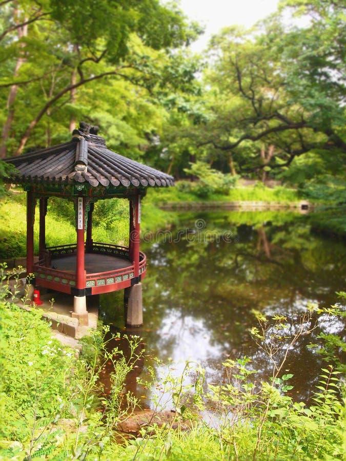 Den legendariska hemliga trädgården bak Royal Palace arkivfoton