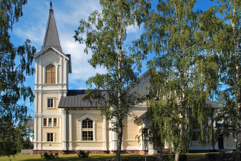 Den Liljendals kyrkaen royaltyfri fotografi
