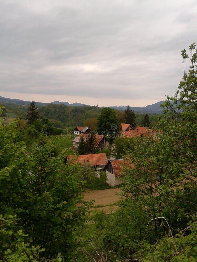 Den lilla byn royaltyfria bilder