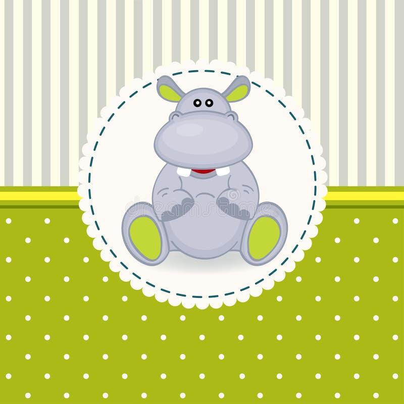 Den lilla flodhästen behandla som ett barn stock illustrationer