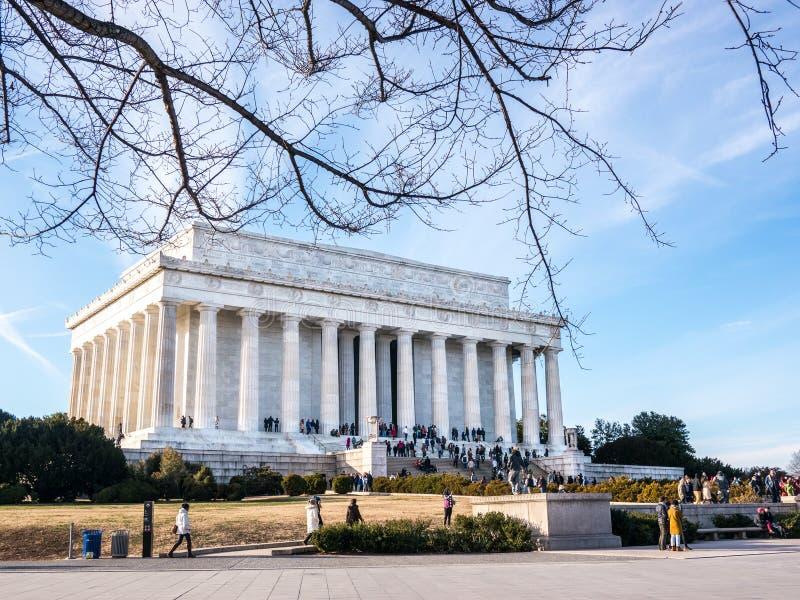 Den Lincoln minnesmärken royaltyfria bilder