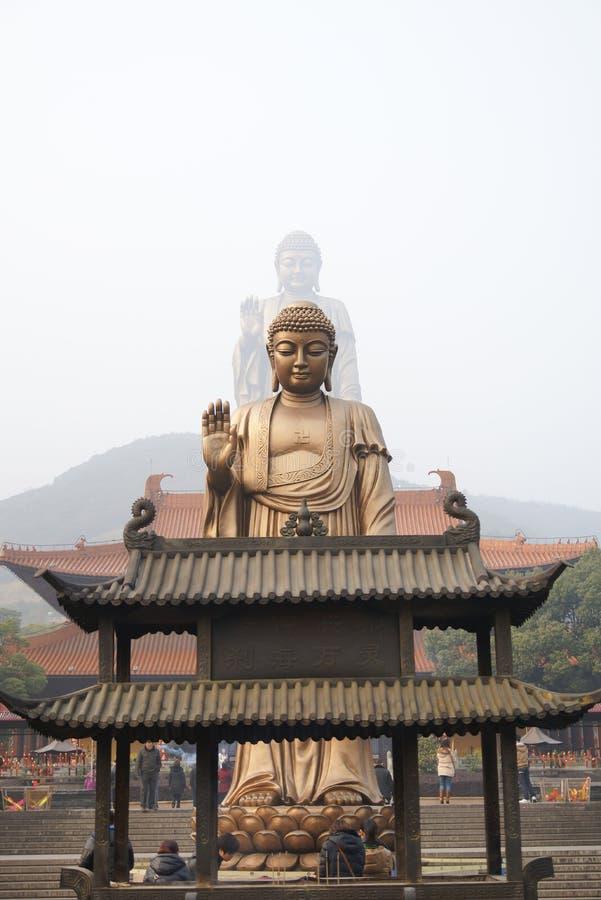 Kina Wuxi Lingshan Buddha arkivbilder