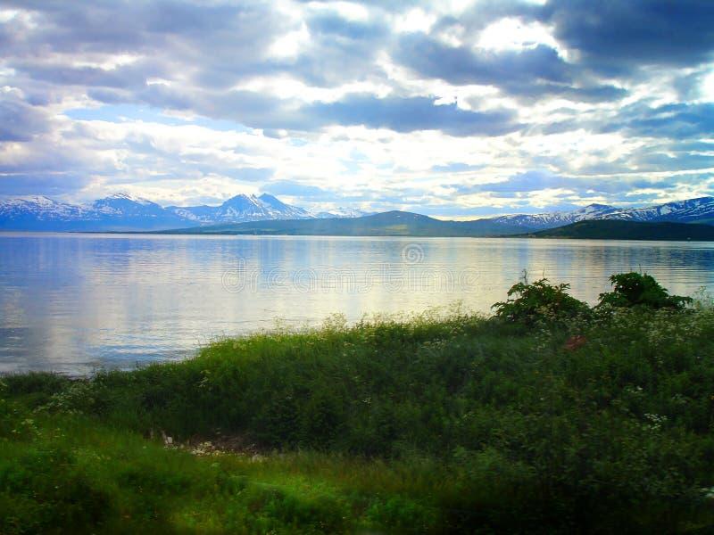 Den ljusa och fantastiska naturen av Spitsbergen norway arkivbild