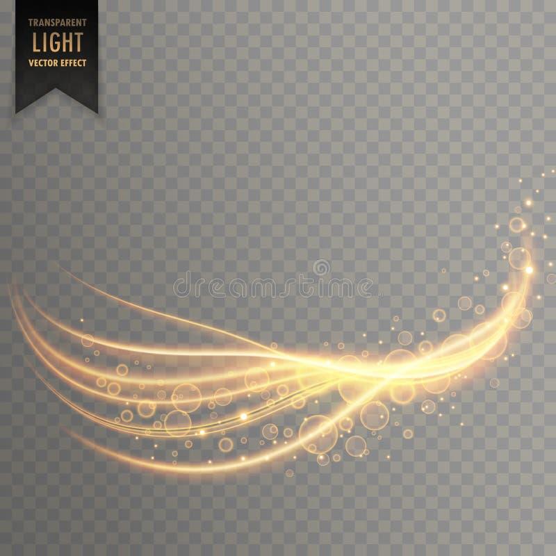 Den ljusa strimman med skimrar effekt stock illustrationer