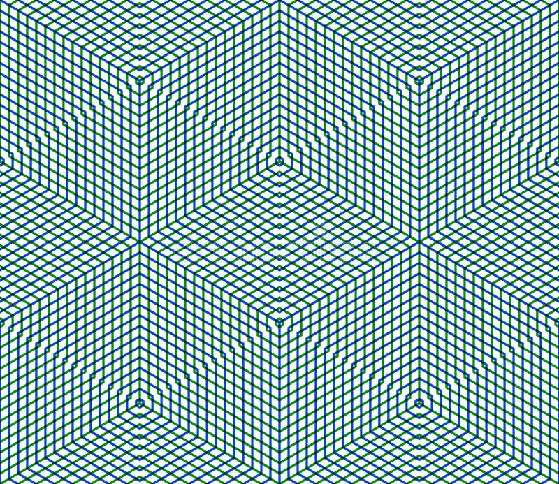 Den ljusa symmetriska sömlösa modellen med väver samman diagram Conti royaltyfri illustrationer