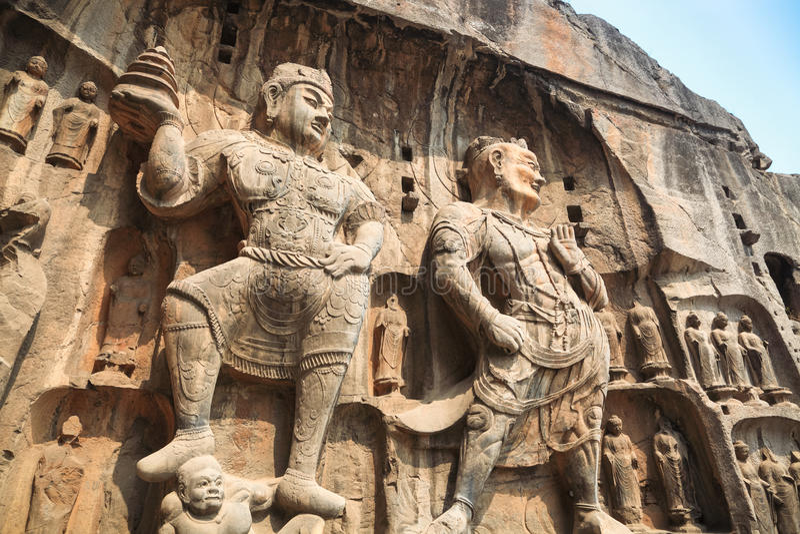 Longmen grottoesbuddha staty royaltyfri fotografi