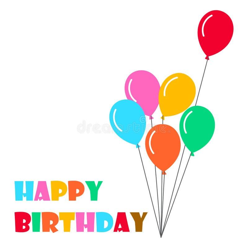 Den lyckliga födelsedagen sväller bakgrund - vektorillustration vektor illustrationer