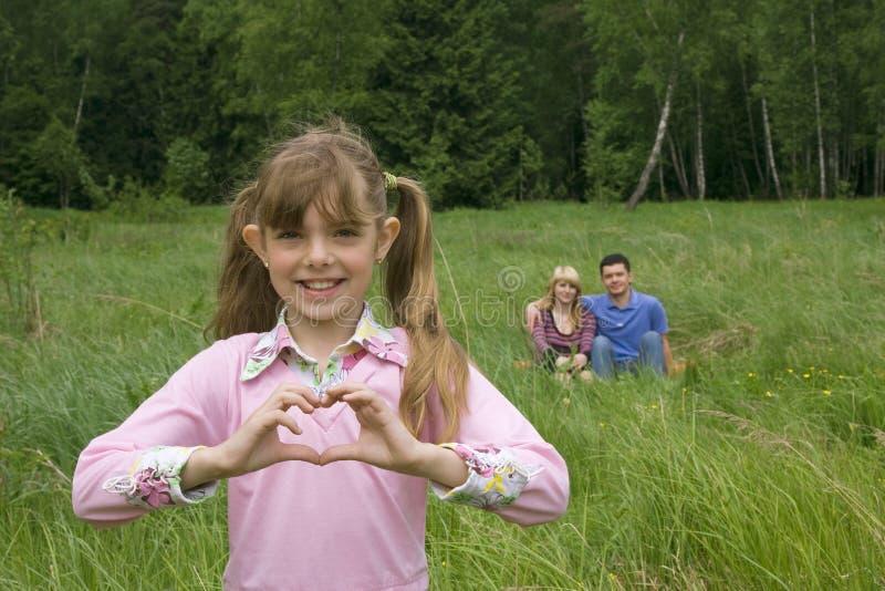 den lyckliga familjen älskar jag mitt royaltyfria foton