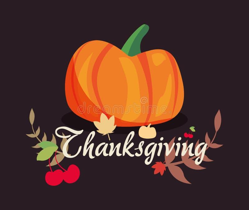 Den lyckliga tacksägelsen firar stock illustrationer