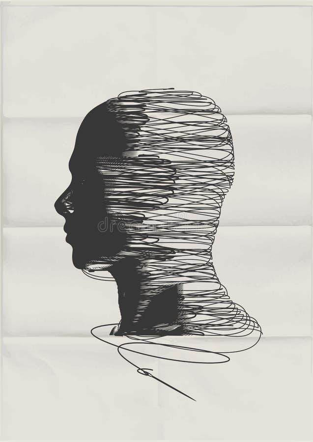 Den mänskliga meningen royaltyfri illustrationer