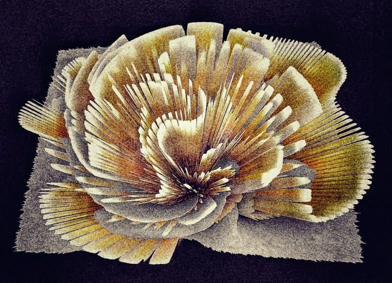 Den målade asterblomman gjorde av torkduken med dina egna händer arkivbilder