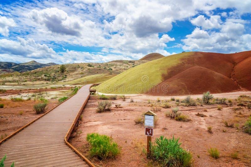 Den målade lilla viken i målade kullar royaltyfri foto