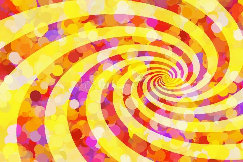 Den målade solstrålen bubblar bakgrunder med solstrålar stock illustrationer