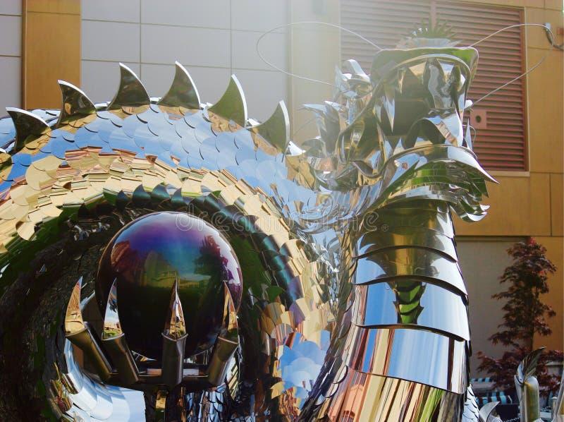 Den magiska draken royaltyfria foton