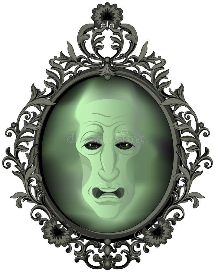 Den magiska spegeln stock illustrationer
