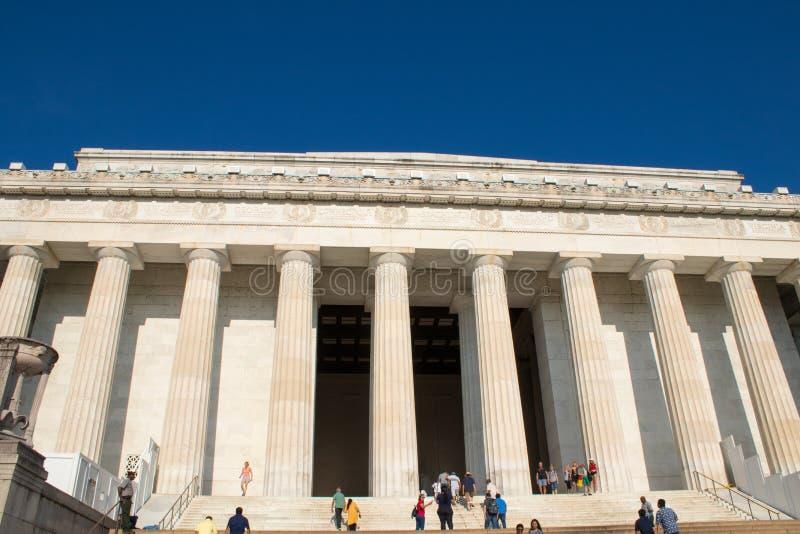 Den majestätiska Lincoln Memorial, Washington D C, royaltyfria bilder
