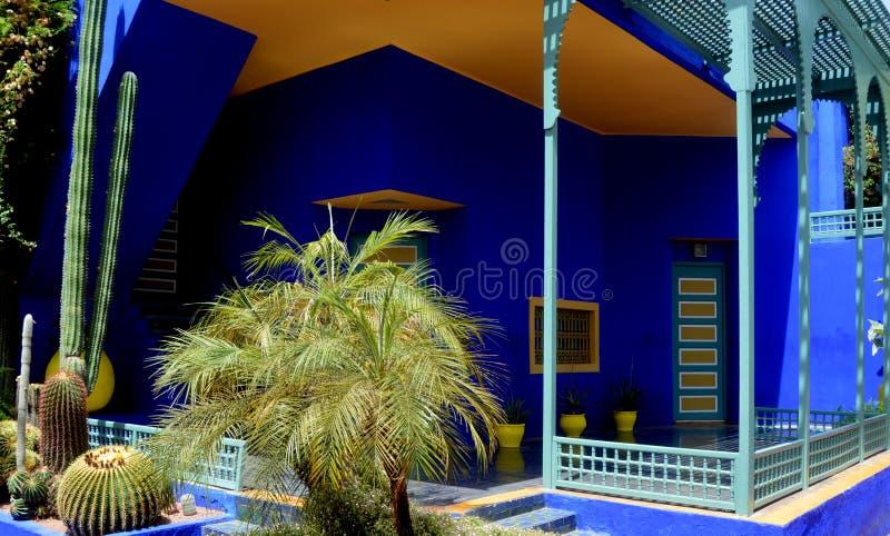 Den Majorelle trädgården - Marrakech fotografering för bildbyråer