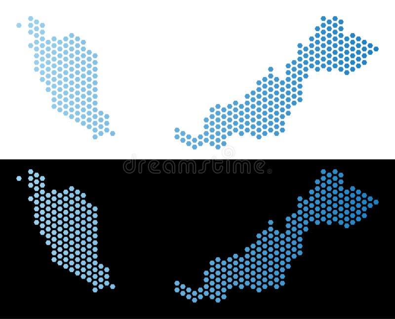 Den Malaysia översikten förhäxer tegelplattamosaiken stock illustrationer