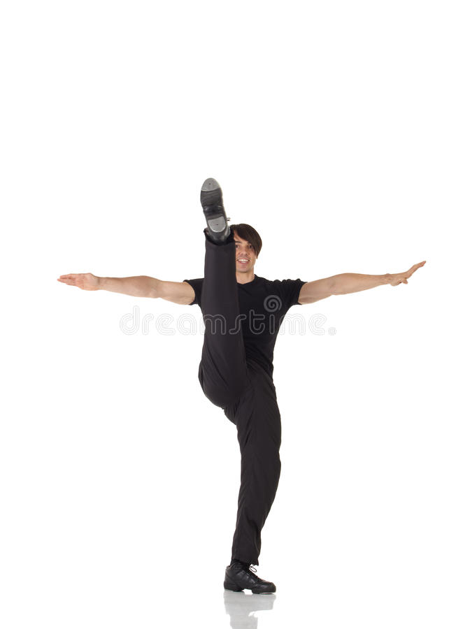den male dansare single kopplingen royaltyfria foton