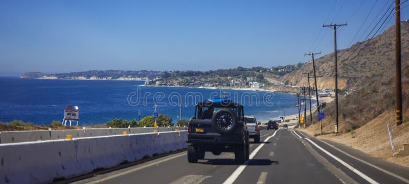 Den Malibu stranden, drömmar kommer riktigt royaltyfria bilder